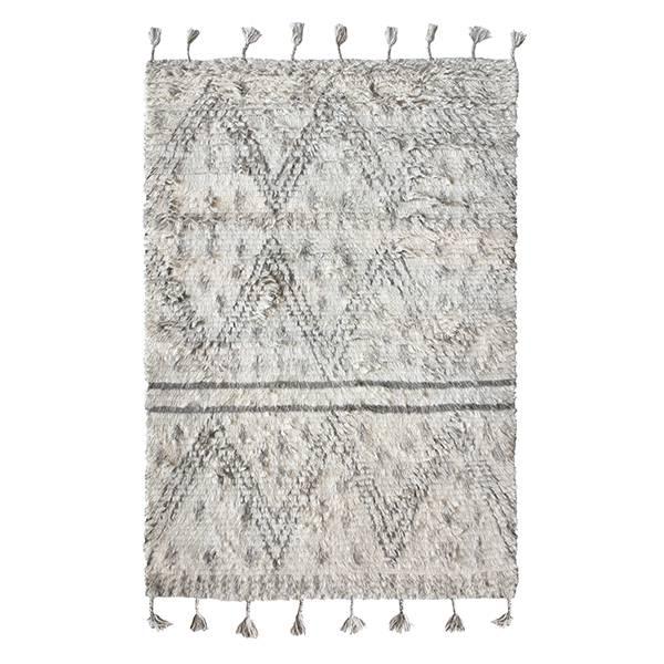 Hk Living Berber Teppich Handgewebt Wolle Grau Weiss 180x280cm