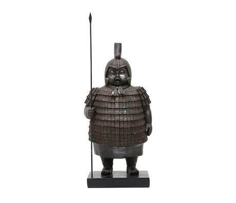 HK-living Ornament Chinese warrior 18x15x36cm