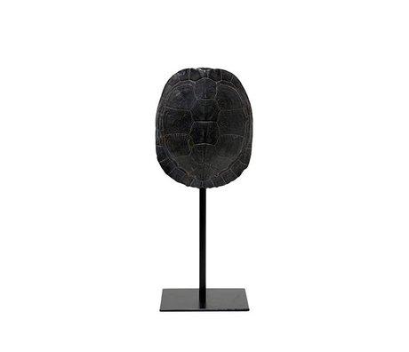 HK-living Artificial turtle shield black plastic 11x10x26,5cm