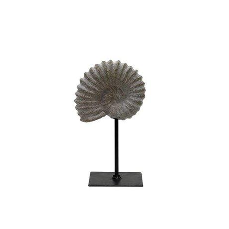 HK-living Artificial fossil brown gray plastic 11x8x19cm