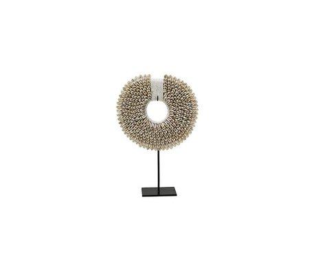 HK-living Ornament Papua S creme wit schelp 20x7x29cm