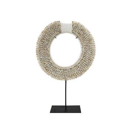 HK-living Ornament Papua M creme wit schelp 29x8,5x45cm