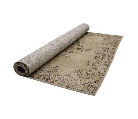 HK-living Vloerkleed extra oververfd zandkleur bruin textiel 180x280cm