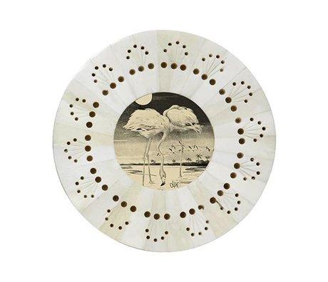 HK-living Rahmen um weiß perforiert ø14x1cm