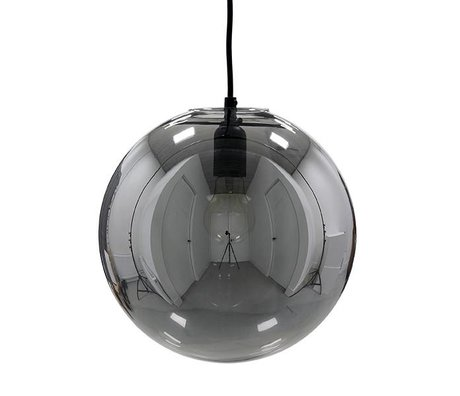 HK-living Hängeleuchte Glas balsmokey grau Ø30cm