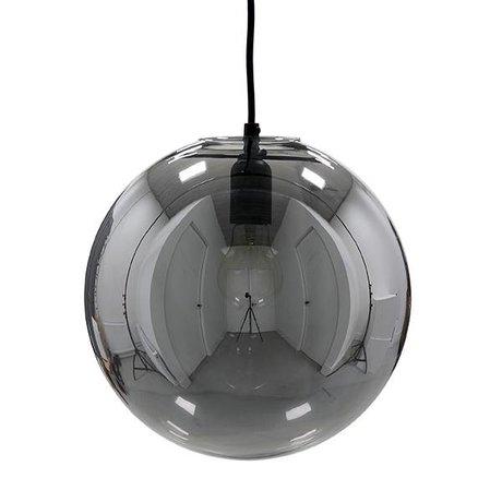 HK-living Hanglamp glazen balsmokey grijs ø30cm