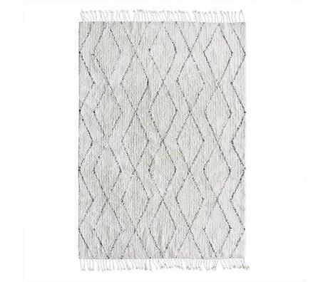 HK-living Flooring Berber hand-woven gray white cotton 140x200cm