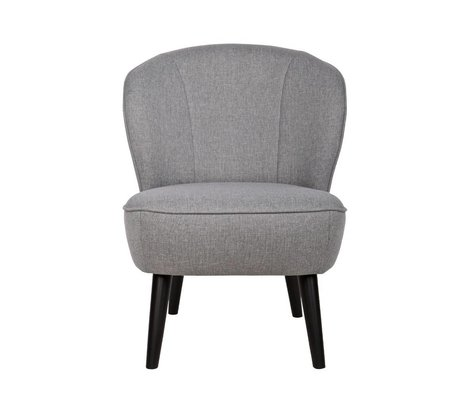 LEF collections Armchair Sara light gray polyester 70x59x71cm