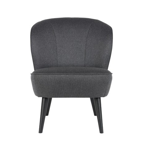 LEF collections Armchair Sara anthracite gray polyester 70x59x71cm