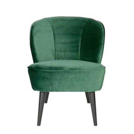 LEF collections Sara Sessel aus grünem Samt Polyester 70x59x71cm