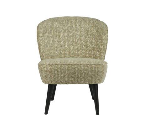LEF collections Sessel Suze zweifarbige Muster heißen grüne Textil 70x59x71cm