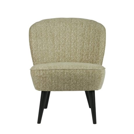 LEF collections Armchair Suze 2-tone Pattern Warm Green Textile 70x59x71cm