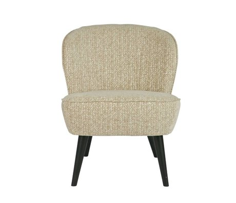 LEF collections Fauteuil Suze Dessin champagne créme wit polyester 70x59x71cm