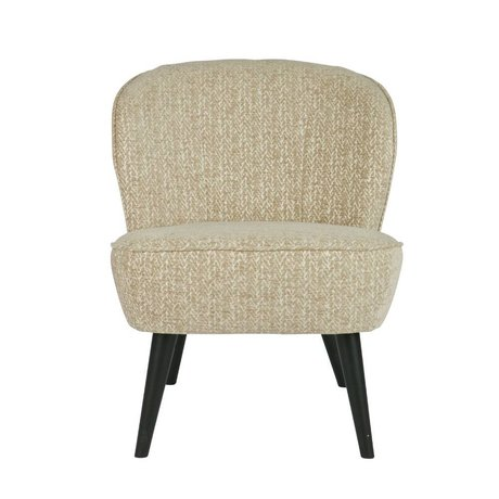 LEF collections Armchair Suze Pattern champagne cream white polyester 70x59x71cm