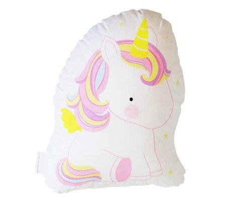 A Little Lovely Company Cushion Unicorn multicolor cotton 22,5x10x27,5cm