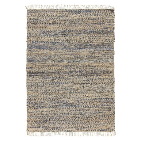 LEF collections Floor cover Save blue cotton 120x170cm