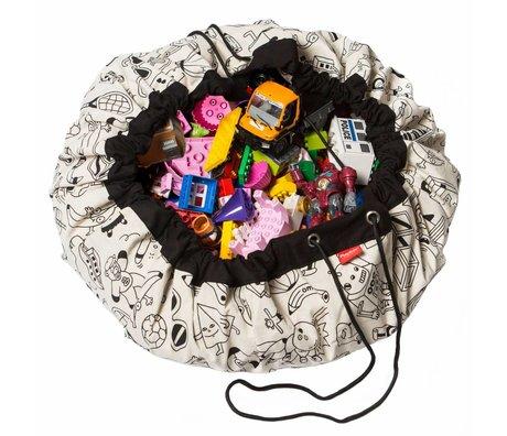 Play & Go Storage bag / toddler Column cap By Omy black cotton Ø140cm
