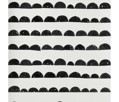 Ferm Living Tapete schwarz / weiß Tapete Möndchen 10,05x0,53m Chargennummer 1709