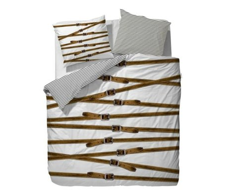 Covers & Co Couette Buckle Up Blanc 1 lit double 140x220cm incl. 1 taie 60x70cm
