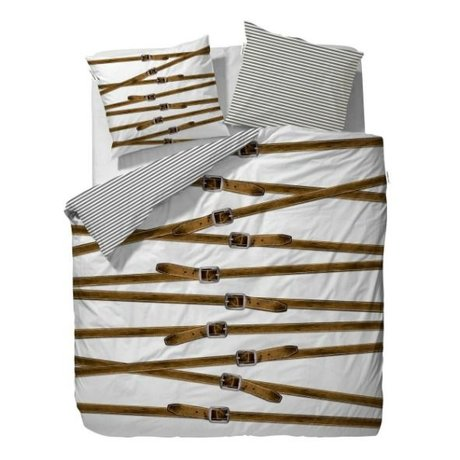 Covers & Co Duvet cover Buckle Up White 200x220cm incl. 2 pillowcase 60x70cm
