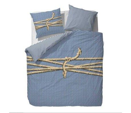 Covers & Co Ligoté couette bleu 140x220cm incl. 1 taie 60x70cm