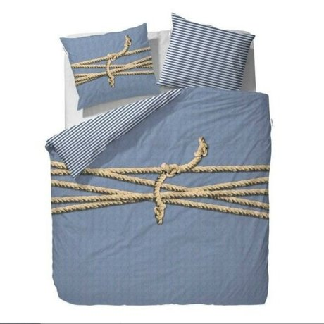 Covers & Co Duvet cover Tied up blue 240x220cm incl. 2 pillowcase 60x70cm
