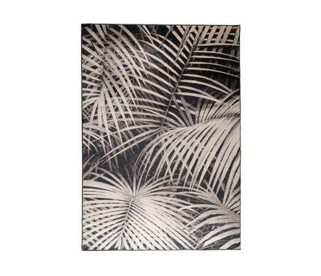 Zuiver Teppich Palm in der Nacht schwarzer Textil 240x170cm