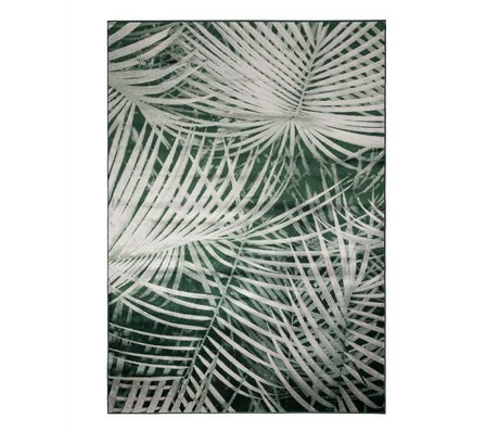 Zuiver Vloerkleed Palm by day groen textiel 300x200cm