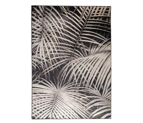 Zuiver Teppich Palm in der Nacht schwarzer Textil 300x200cm