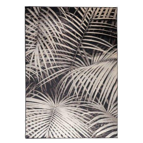 Zuiver Vloerkleed Palm by night zwart textiel 300x200cm