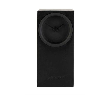 Zuiver Tafelklok Brick zwart metaal 9x9x19cm