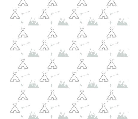 Roomblush Wallpaper Tipi gray paper 1140x50cm batch date 26-06-2017
