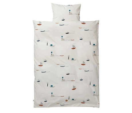 Ferm Living Seaside adult duvet set cotton 140x200 cm incl pillowcase 63x60cm