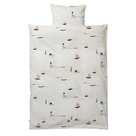 Ferm Living Seaside Erwachsenen Bettsatz Baumwolle 140x200 cm inkl pillowcase 63x60cm