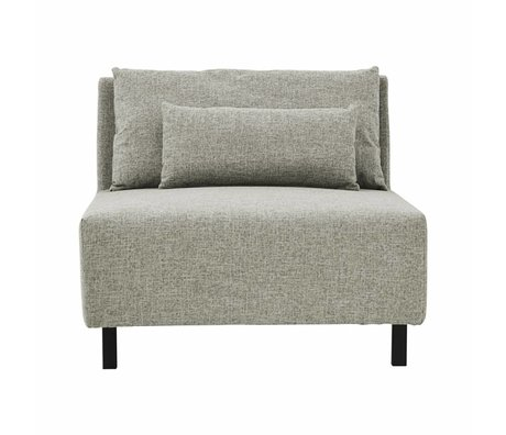 Housedoctor Sofa 2 cushions box gray medium metal polyester 90x100x75cm