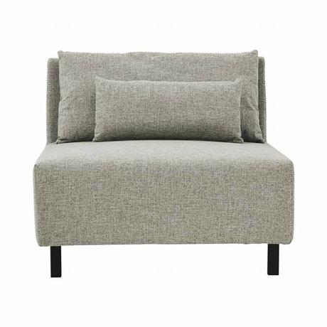Housedoctor 2 coussins de canapé boîte en métal gris mélange polyester 90x100x75cm