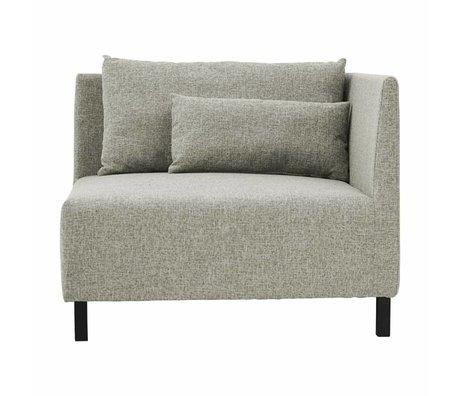 Housedoctor Corner sofa 2 cushions box gray medium polyester 100x100x75cm