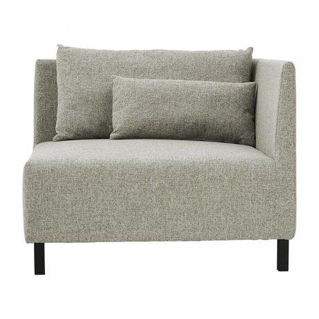 Housedoctor Hoeksofa 2 cushions box grijs melange polyester 100x100x75cm