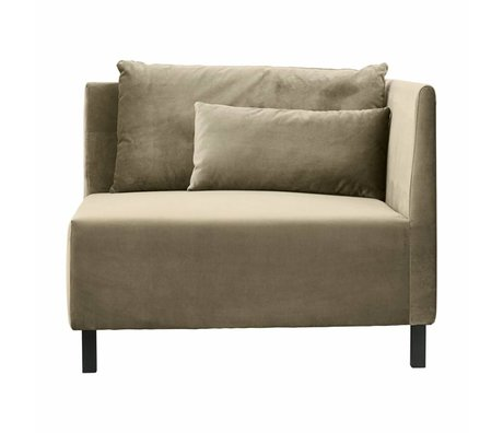 Housedoctor Corner sofa 2 cushions box sand polyester 100x100x75cm