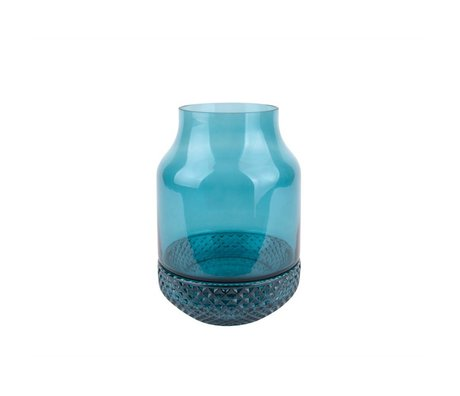 pt, Gem blauen Glas-Vase Ø16x23,5cm