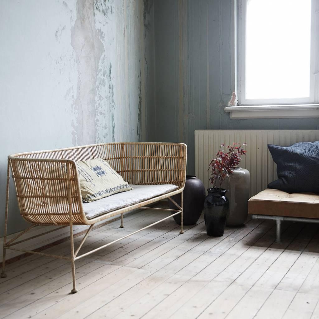 housedoctor bank coon naturel bruin rotan. Black Bedroom Furniture Sets. Home Design Ideas