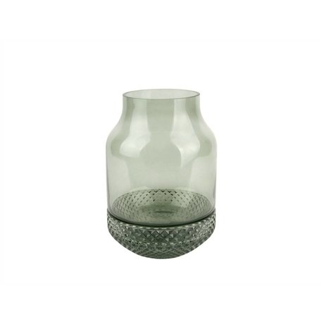 pt, Vase Save green glass Ø16x23,5cm