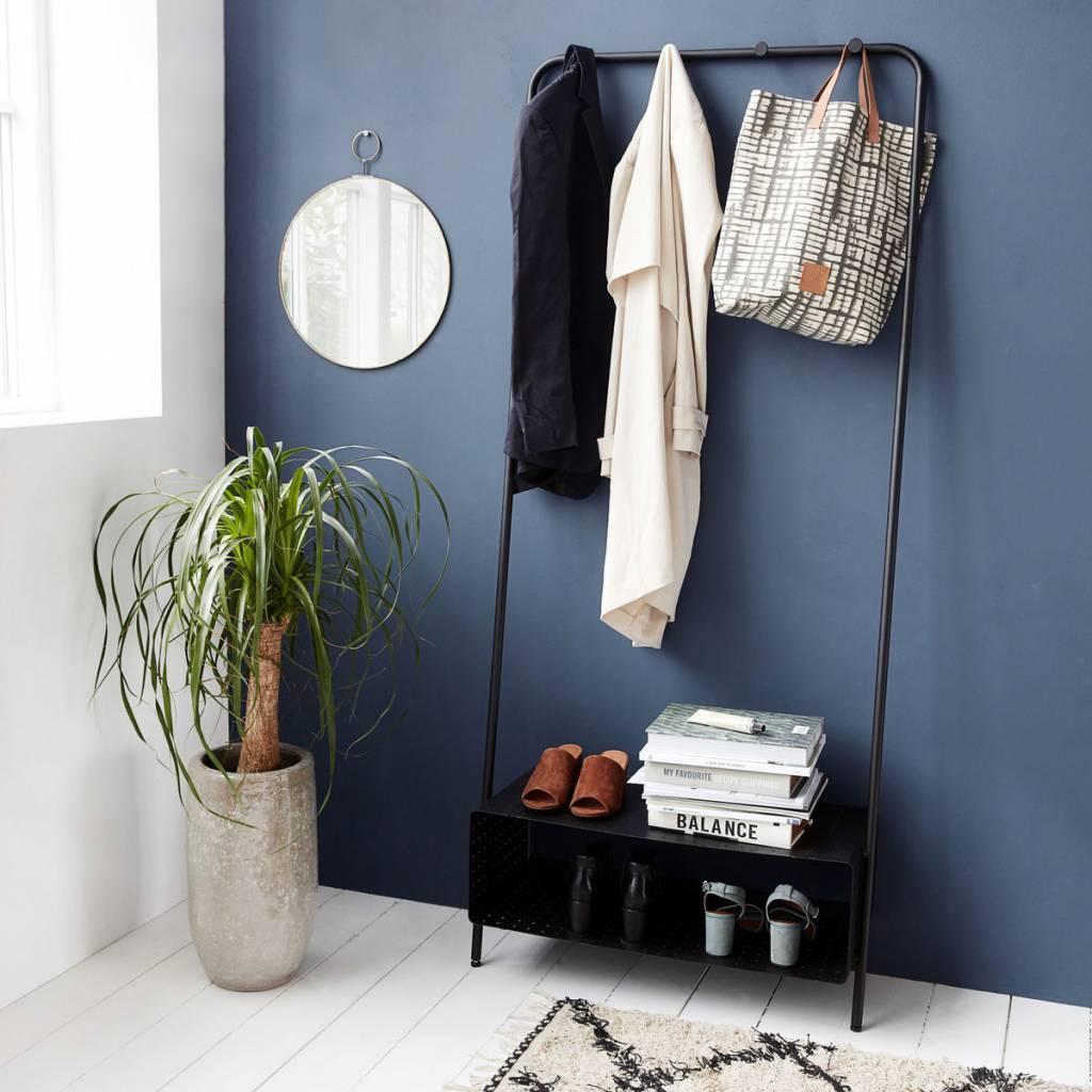 housedoctor rek ways zwart staal 74x32x175cm. Black Bedroom Furniture Sets. Home Design Ideas