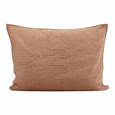 Housedoctor Cushion cover Tria brown orange 80x60cm