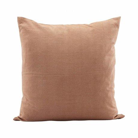 Housedoctor Kussenhoes Tria orange, coton brun 50x50cm