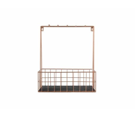 pt, Kitchen rack copper metal 36x30x15cm