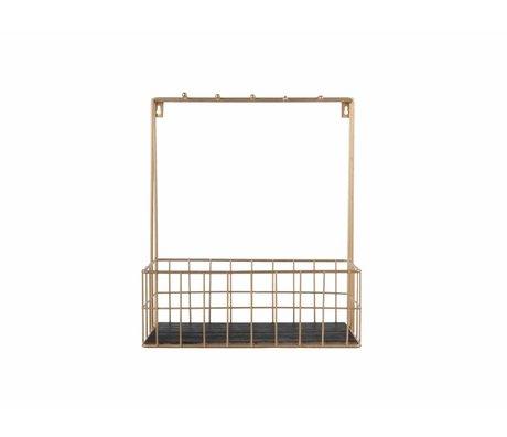 pt, Keukenrek goud metaal 36x30x15cm