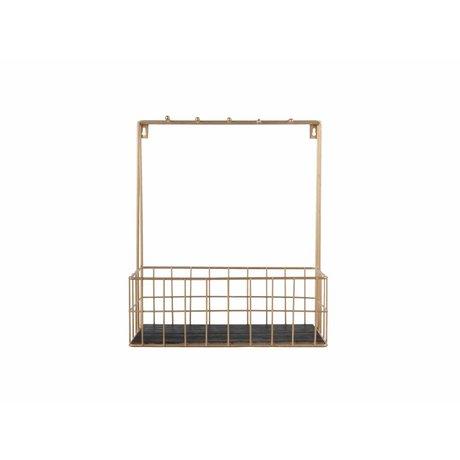 pt, Küche Rack Gold Metall 36x30x15cm