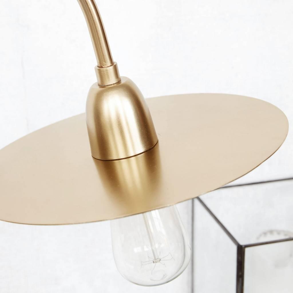 housedoctor lampe de table glow laiton dor 79cm wonen met lef. Black Bedroom Furniture Sets. Home Design Ideas