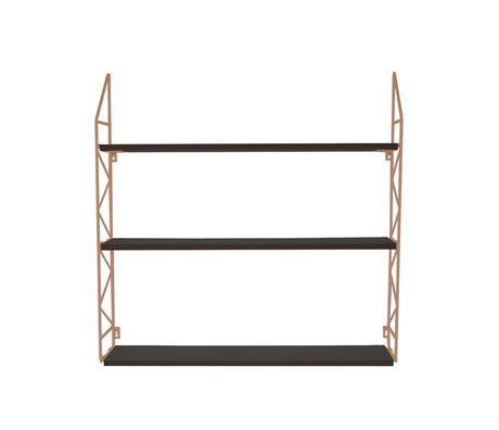 pt, Wandrek Zig Zag copper metal wood 60x60x11cm